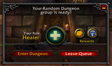 Dungeon Queue Notification in World Of Warcraft
