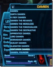 SWTOR PvP Titles