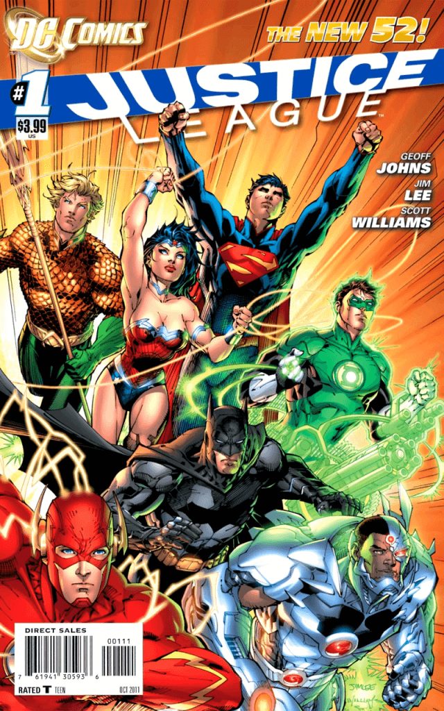 New 52 Justice League - Number 1 Cover